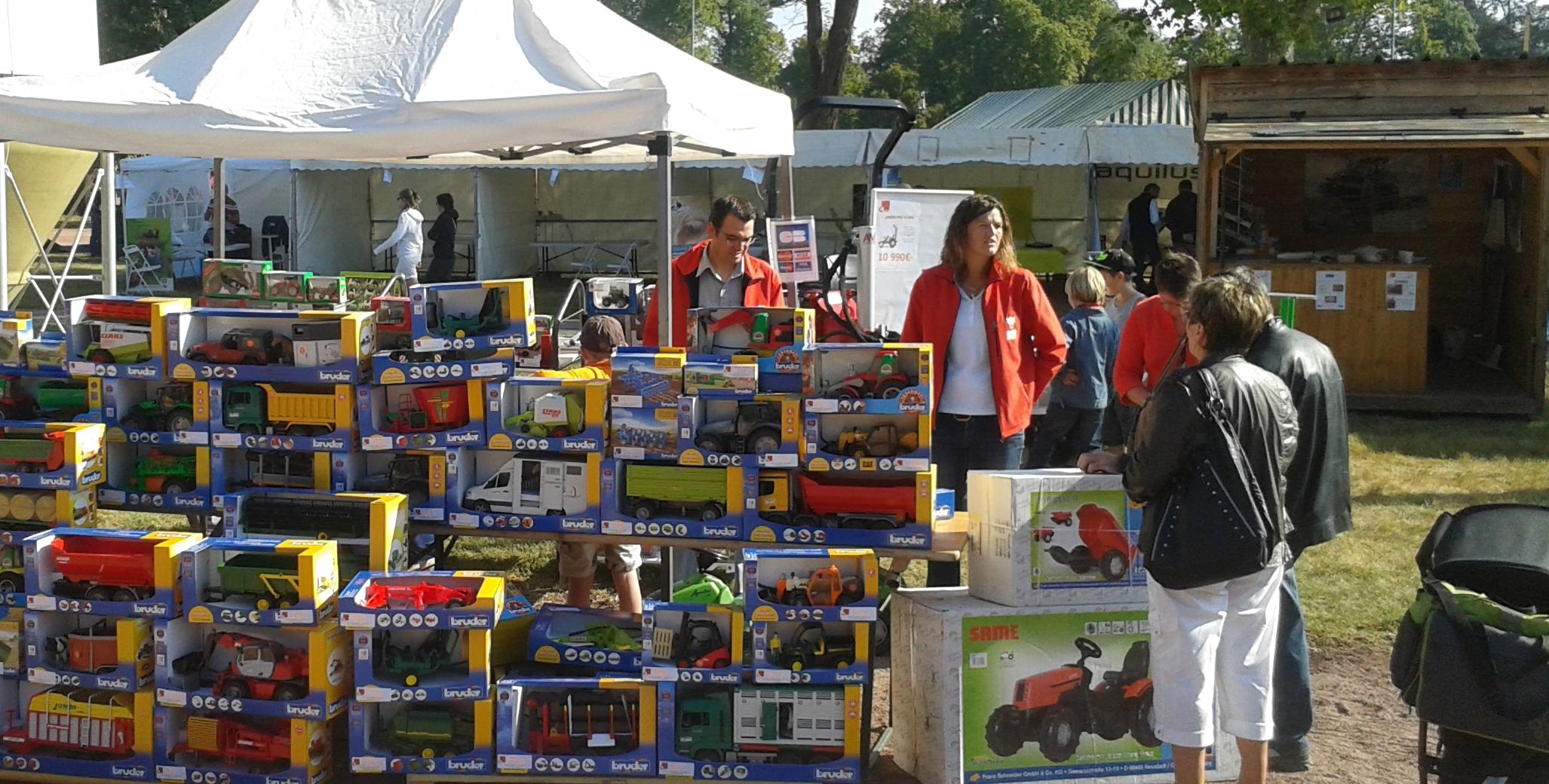 Participation aux foires & évènements avec un stand jouet
