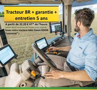 """Louez votre tracteur 8245R """"connecté"""""""