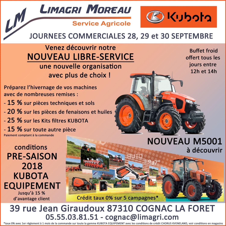 JOURNEES COMMERCIALES à Cognac la Fôret le 28, 29 et 30 septembre 2017