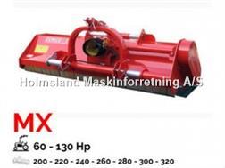 Perrugini MX240 Slagleklipper Bagmonteret m. hydr. Sideforsk