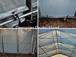 Divers Lagerzelt 6x12x3,7 m PVC Lagerhalle Zelthalle Gara