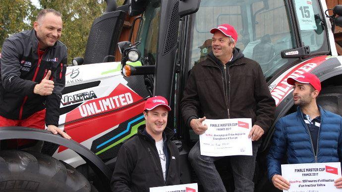 Compétition de tracteurs - Jean-Phillippe Paraire, lauréat français de la Valtra Master Cup