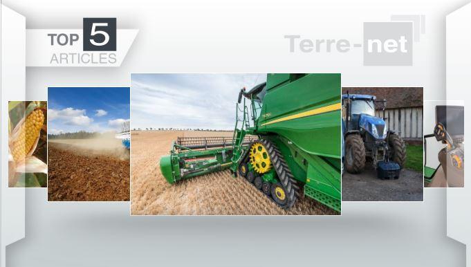Top articles - John Deere, fiscalité et véhicule de ferme et les rendements en maïs à la Une