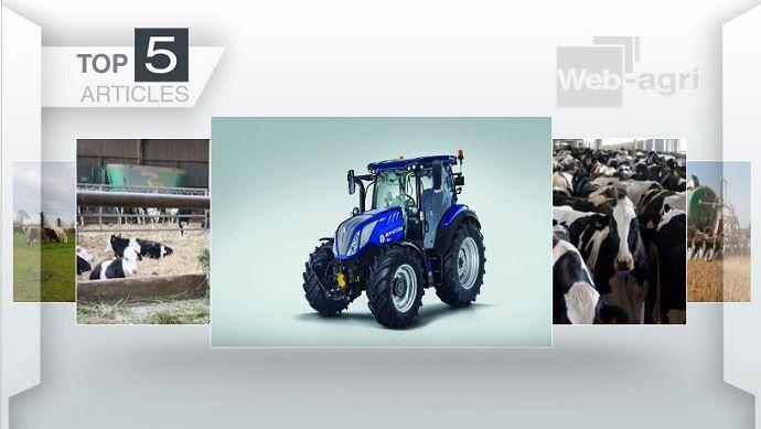Top articles - New Holland T5 et concentration des fermes laitières sur le devant de l'actu