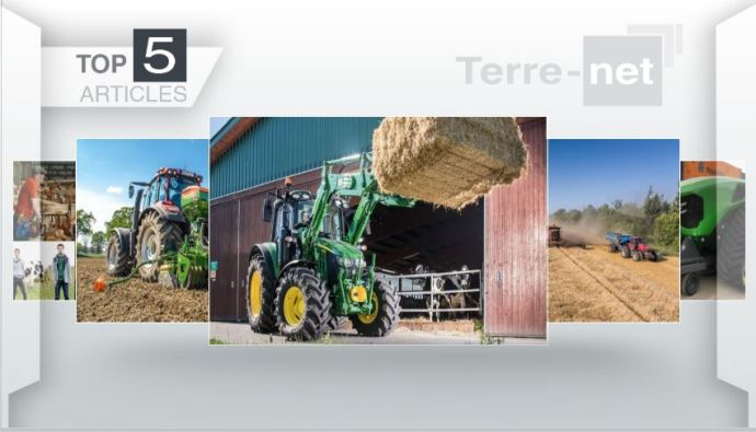 Top articles - Les nouveautés John Deere et le suicide des agriculteurs en haut de l'affiche