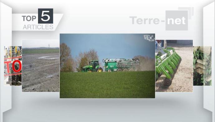 Top articles - Le John Deere 8410 RX et la désherbeuse Orbis en haut de l'affiche
