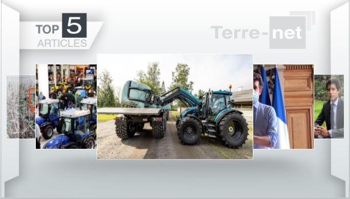 Top articles - Nouveau Valtra, le plan de relance agricole et l'interview du ministre à la Une