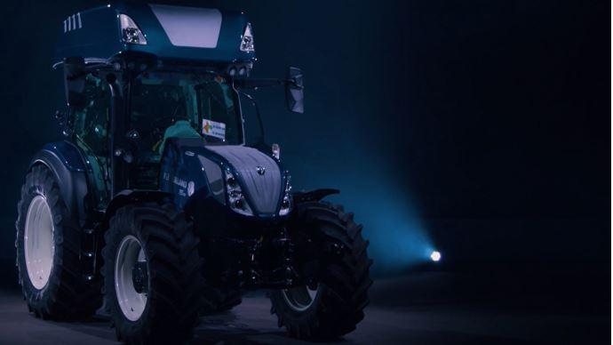Tracteur bi-carburation - Le New Holland T5.140 H2 Dual Power carbure à l'hydrogène