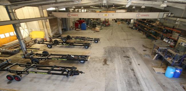 L'atelier de fabrication Cheval Equipment