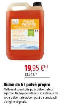 BIDON DE 5L PULVE PROPRE