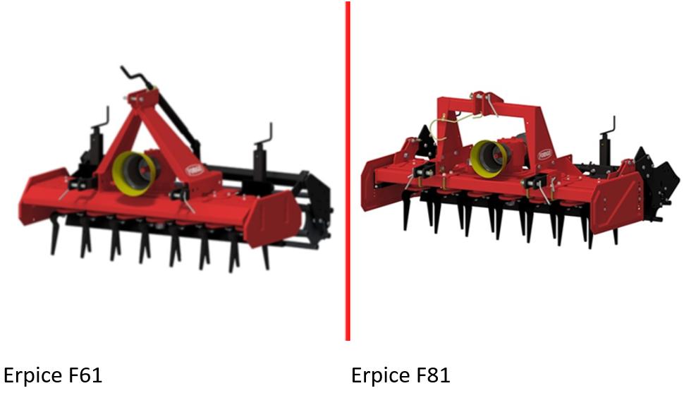 Herse rotative erpice F61 & F81